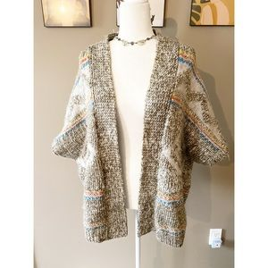 American Eagle Aztec Alpaca Knit Shawl